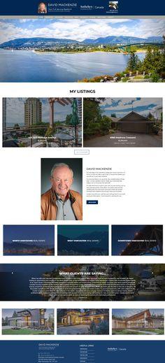 Website makeover for North Shore Realtor David MacKenzie. Simon Property Group, Vancouver Real Estate, Website Designs, Website Ideas, North Shore, Property Management, David, Canada, Site Design
