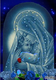 Our Holy Mother and Jesus'. Image Jesus, Jesus Christ Images, Religious Pictures, Jesus Pictures, Blessed Mother Mary, Blessed Virgin Mary, Catholic Art, Religious Art, Queen Of Heaven
