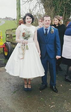 NYE 50s Tea Length Wedding Dress from Honeypie.