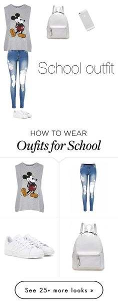 """school outfit❤"" by malissax12 on Polyvore featuring Topshop and adidas"