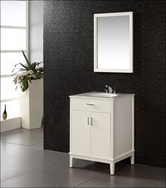 24 White Bathroom Vanity With Drawers