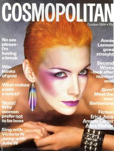 Annie Lennox, 1984 Cosmopolitan magazine.