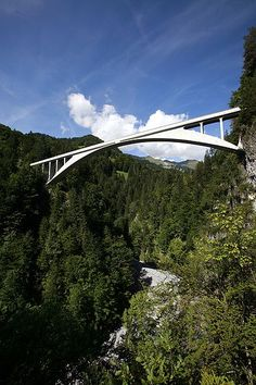 Salginatobel Bridge by Robert Maillart, 1929-1930.  It is one of my favourite ones. Just round the corner you could say. Every other time I drive to Italy I have a break in Switzerland to have a walk there.