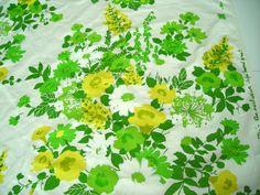 Vintage Jofa Fabric Mid Century Hand Block Print by bellafabric, $230.00