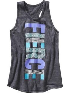 E - Girls Old Navy Active Text-Graphic Tanks   Old Navy