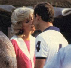1984-07-29 Diana and Charles exchange a kiss at a polo match in Windsor, Berkshire