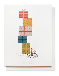 Mignon | birthday bike card