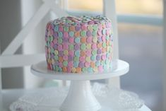 Passion 4 baking » Vanilla Cake with Whipped Raspberry Frosting & pastel sprinkles