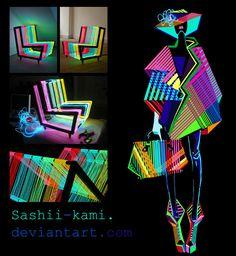neon london by Sashiiko-Anti Inspirational fashion Fashion Design Portfolio, Fashion Design Drawings, Fashion Sketches, Fashion Sketchbook, Art Sketchbook, Portfolio Mode, Fashion Illustration Dresses, Fashion Figures, Colorful Fashion