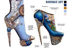 Дизайнер Ник Эдельман задался необычной целью: разработать дизайн обуви, отразившей ту или иную культуру или эпоху во всей её полноте. Каждый объект создавался в соответствии с цветами, формами и стилистическими характеристиками определенного периода мировой истории искусства. Больше арт-обуви по ссылке.