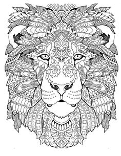 476 Beste Afbeeldingen Van Coloring Lion Tiger In 2018 Coloring