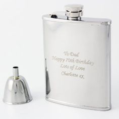 Laser Engraved Personalised Hip flask - Perfect for a Best Man or Usher Thank Your gift with Free Engraving: Amazon.co.uk: Kitchen & Home