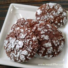 Round 1 of Christmas cookies is out of the oven and they are a new favorite. Gluten free dairy free chocolate orange crinkle cookies. Recipe on the blog tonight! #glutenfree #dairyfree #cookies #chocolateorange