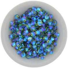 6mm Swarovski Bicones #5328 XILION Chrysolite Opal AB2X 3mm 4mm