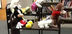 book cart races for Camping at the Library stuffed animal sleep over.