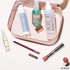 These are the only makeup and hair products you need to get through the summer—and you can find them all in our new Byrdie Bag.