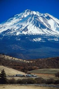 Mt. Shasta offers a great focal point in northern California.
