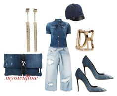 """DEMIN FLOW"" by myownflow on Polyvore featuring Dsquared2 and MM6 Maison Margiela"