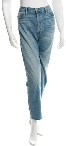 Frame Denim Distressed Straight-Leg Jeans Frame Denim, Distressed Jeans, Legs, Stylish, Pants, Women, Fashion, Ripped Denim Jeans, Trouser Pants