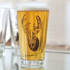 OMFB screen printed glassware set of 4 pint glasses by vital, $38.00