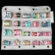 Love to organize washi tape. This is the perfect organizer for you! Keep your tape visible and accessible in the 20 pocket panel.