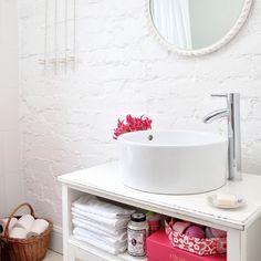Weiß rustikalen Bad Wohnideen Badezimmer Living Ideas Bathroom