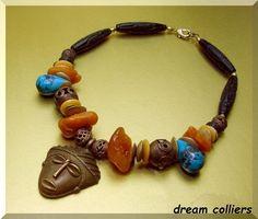 Maskenkette Afrika von Dream-Colliers auf DaWanda.com