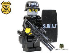 SWAT Police Officer - Assault Trooper - Custom LEGO® Army Minifigure by CombatBrick.com
