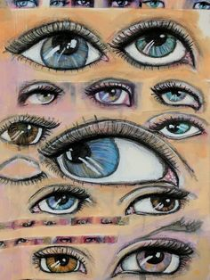 Eyes for #21embody using Jane Davenport mixed media supplies by Amber Button #amberbuttonart