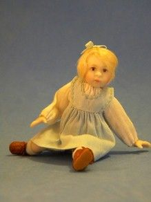 fouteen jointed toddler , resin by Jane Davies