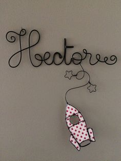 Etsy - Shop for handmade, vintage, custom, and unique gifts for everyone Wire Crafts, Diy And Crafts, Wire Letters, Wire Flowers, Baby Nursery Decor, Wire Art, Decoration, Wire Wrapping, Kids Room