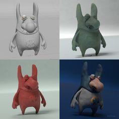 ArtStation - Martin Guldbaek Plasticine, Dinosaur Stuffed Animal, Cartoon, Art Director, Animals, Games, Animales, Animaux, Cartoons