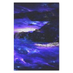 Amethyst Sapphire Indian Dreams Tissue Paper