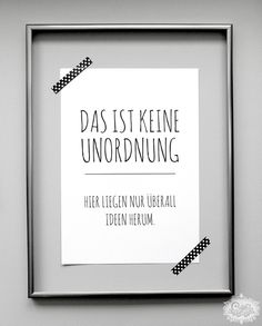 Poster Unordnung // poster by cute as a button via DaWanda.com                                                                               Mehr