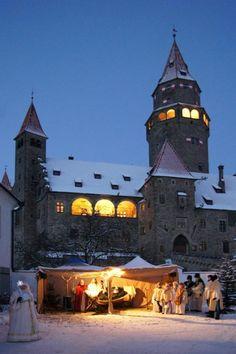 vánoční hrad Bouzov, Czech