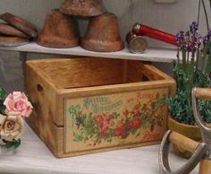 French Flower Crate 112 Scale Miniature by WestonMiniature on Etsy, $5.25