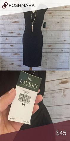 NWT Ralph Lauren Dress Beautiful black knee length dress. Gathered slightly under bust. Very flattering on all body types. Ralph Lauren Dresses