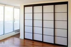 "I am finishing by basement and will end up with a closet which is approximately 145"" and needs to be easily accessible. I would like to use doors, not fabric, to cover up the space. After much searching I found some inspiration in the Japanese shoji sliding doors. I love the look of those doors, however, I am looking for advice on where (in the Boston area) I can purchase them cheaply and/or how difficult would it be to make them myself. All advice, directions etc. are greatly appreciated…"