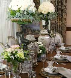 Antique tablescapes