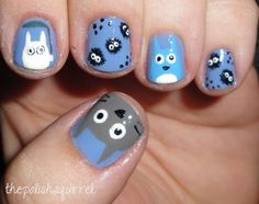 animal themed nail art