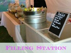 Wedding Reception 'Filling Station'