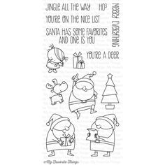 My Favorite Things Clear Stamps - Jingle all the Way - My Favourite Things