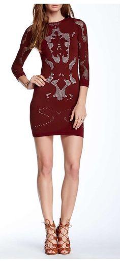 Free People Dress Cutwork Slip M/L Burgundy