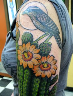 Christina Hock - Saguaro and Cactus Wren?