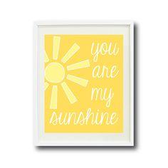 You Are My Sunshine-Kids Room Nursery Home by GatheredNestDesigns