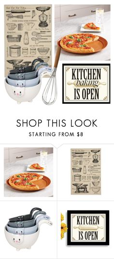 """""""Kitchen is open"""" by subvilli ❤ liked on Polyvore featuring interior, interiors, interior design, home, home decor, interior decorating, Improvements, kitchen, baking and polyvoreeditorial"""