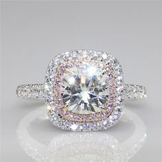 Like and Share if you want this Cushion 2ct Esdomera Moissanites Double Halo Pink Pave Set Accents 9k White Gold Lab Grown Diamond Engagement Ring Fine Jewelry Tag a friend who would love this! FREE Shipping Worldwide Buy one here---> http://onlineshopping.fashiongarments.biz/products/cushion-2ct-esdomera-moissanites-double-halo-pink-pave-set-accents-9k-white-gold-lab-grown-diamond-engagement-ring-fine-jewelry/