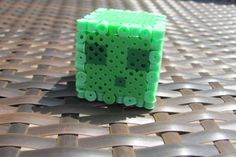 3D perler bead Minecraft slime made by ogel - DIY