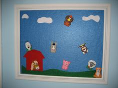 make a felt board out of a picture frame (and felt)