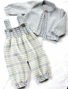 ea8aac68 Ravelry: Baby Overalls with detailed cabled bodice and matching sweater  pattern by OGE Knitwear Designs - Hatice Ülker-